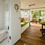 úszóház, lakóhajó - nappali