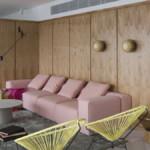 belső kert, színes lakás - nappali