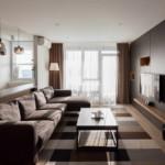 egyszerű színek letisztult design - nappali