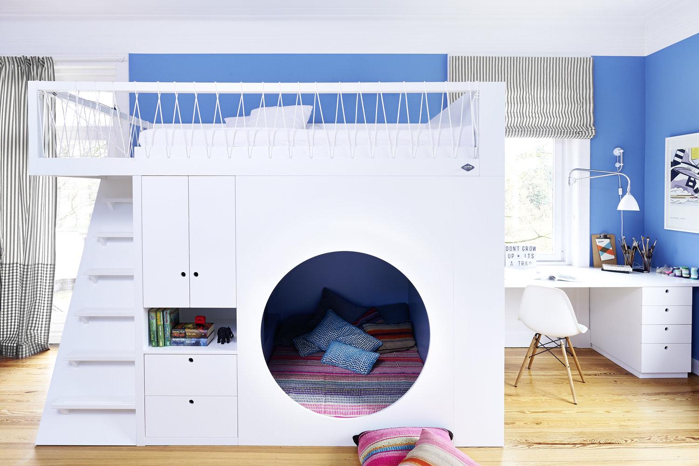 gyerek emeletes ágy - bunkerrel