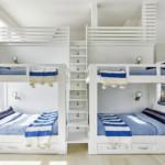 gyerek emeletes ágy - kék fehér
