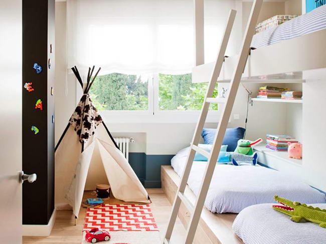 gyerek emeletes ágy - modern és egyszerű