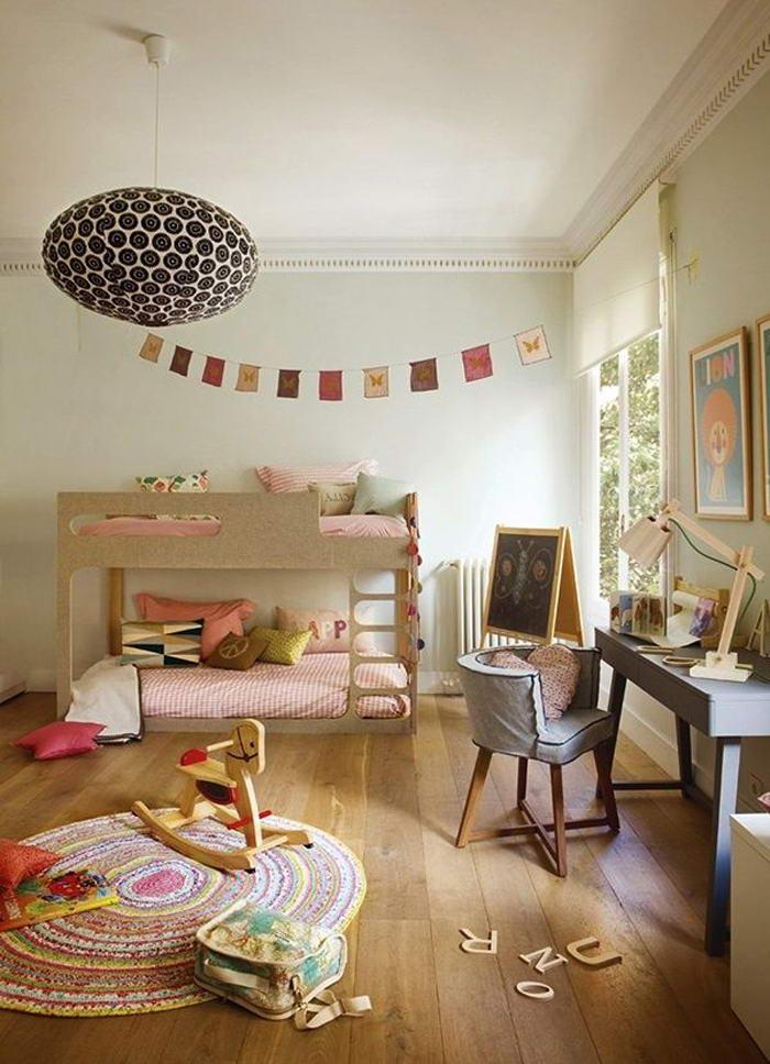 gyerek emeletes ágy - lány szoba