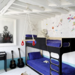 gyerek emeletes ágy - másképp kék