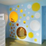 gyerek emeletes ágy - lány szoba türkiz