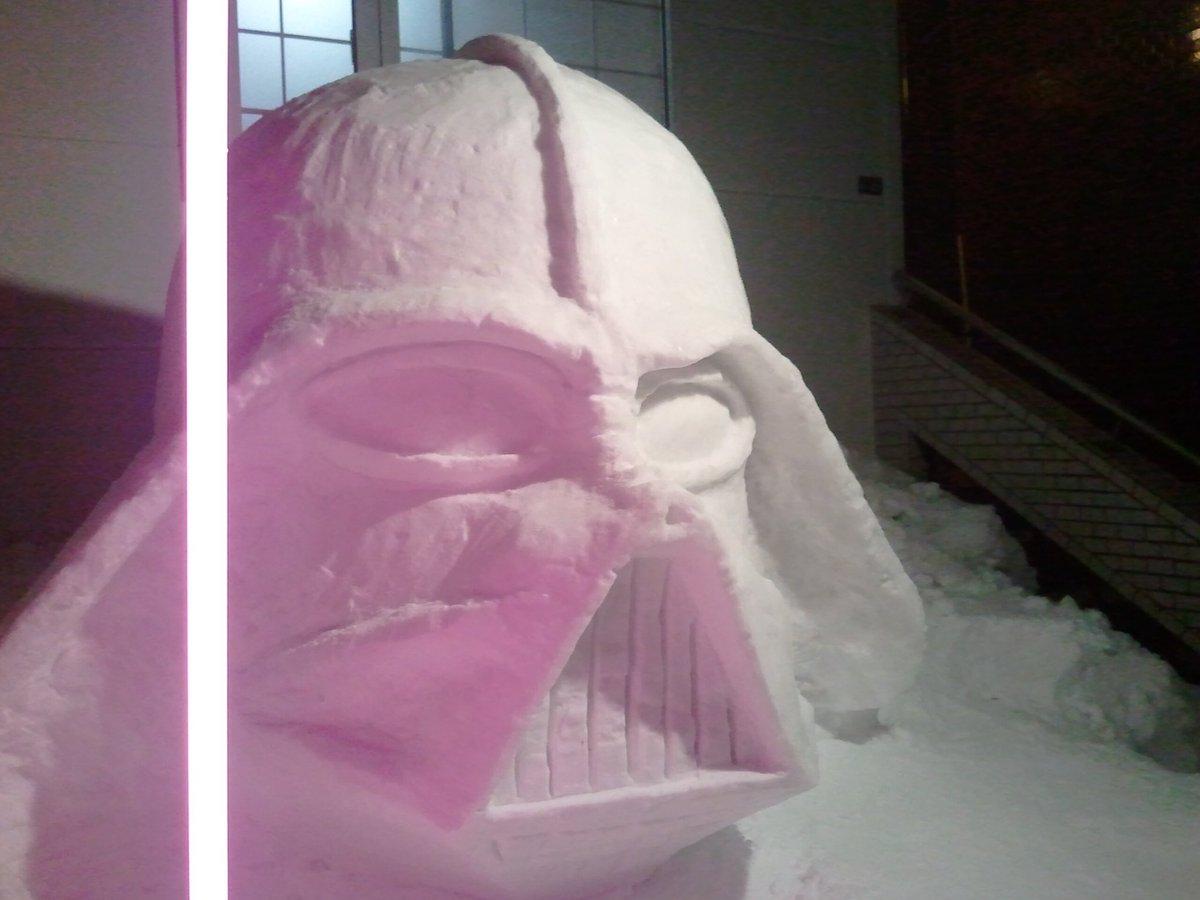 hófigura - hóember darth wader