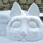 hófigura - hóember cica mcska