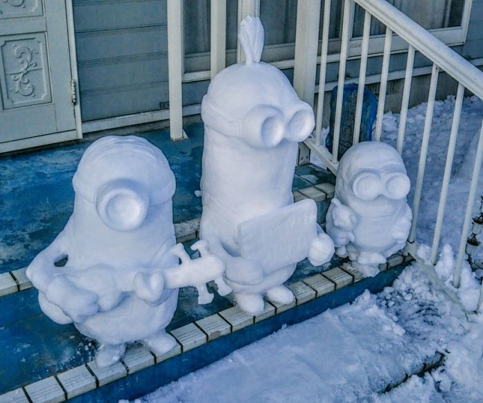 hófigura - hóember minion