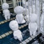 hófigura - hóember ufo