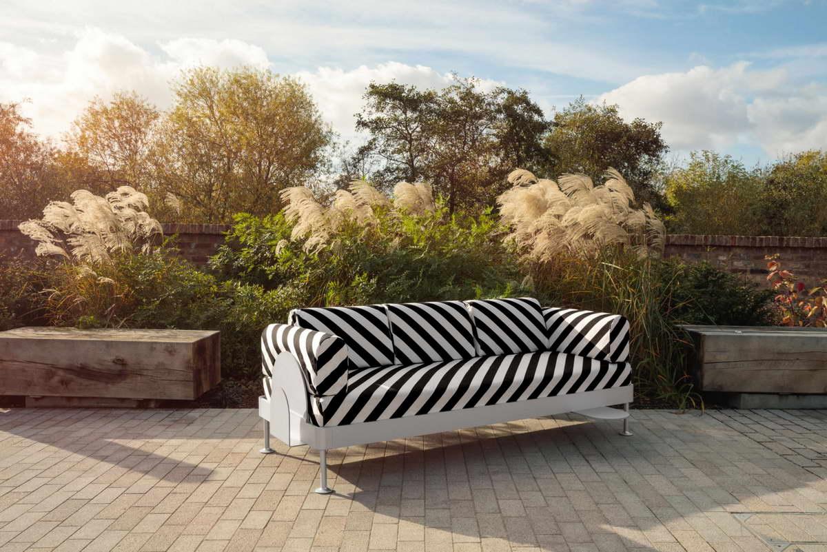 IKEA hack - Delaktig kanapé - csíkos