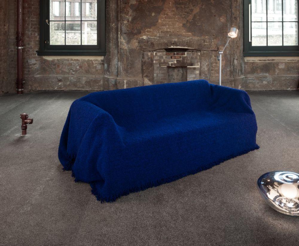 IKEA hack - Delaktig kanapé - kék szőrös szövet