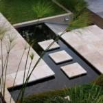 kerti lépcső többszintű terasz és kert - sziget