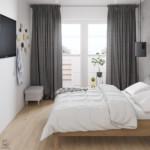 kis hálószoba ötlet - tv a falon