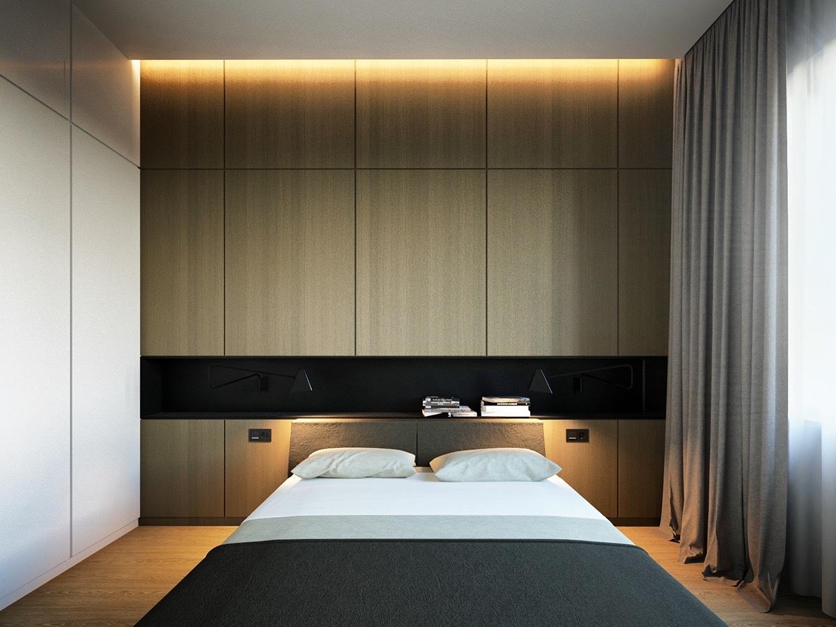 kis hálószoba ötlet - kis méretű ágy