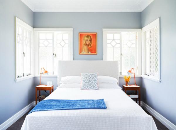 kis hálószoba ötlet - színes fal
