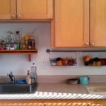kis konyha tároló ötlet, tipp - konyha szekrény alatt
