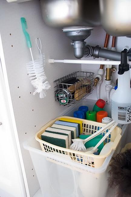 kis konyha ötlet - mosogató szekrény kihasználás