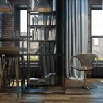 kis loft lakás nyitott légtér nappali étkező