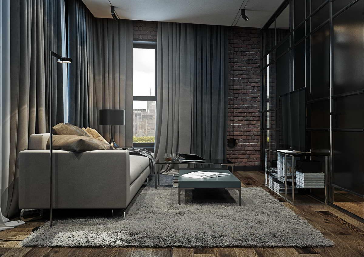 kis loft lakás nappali
