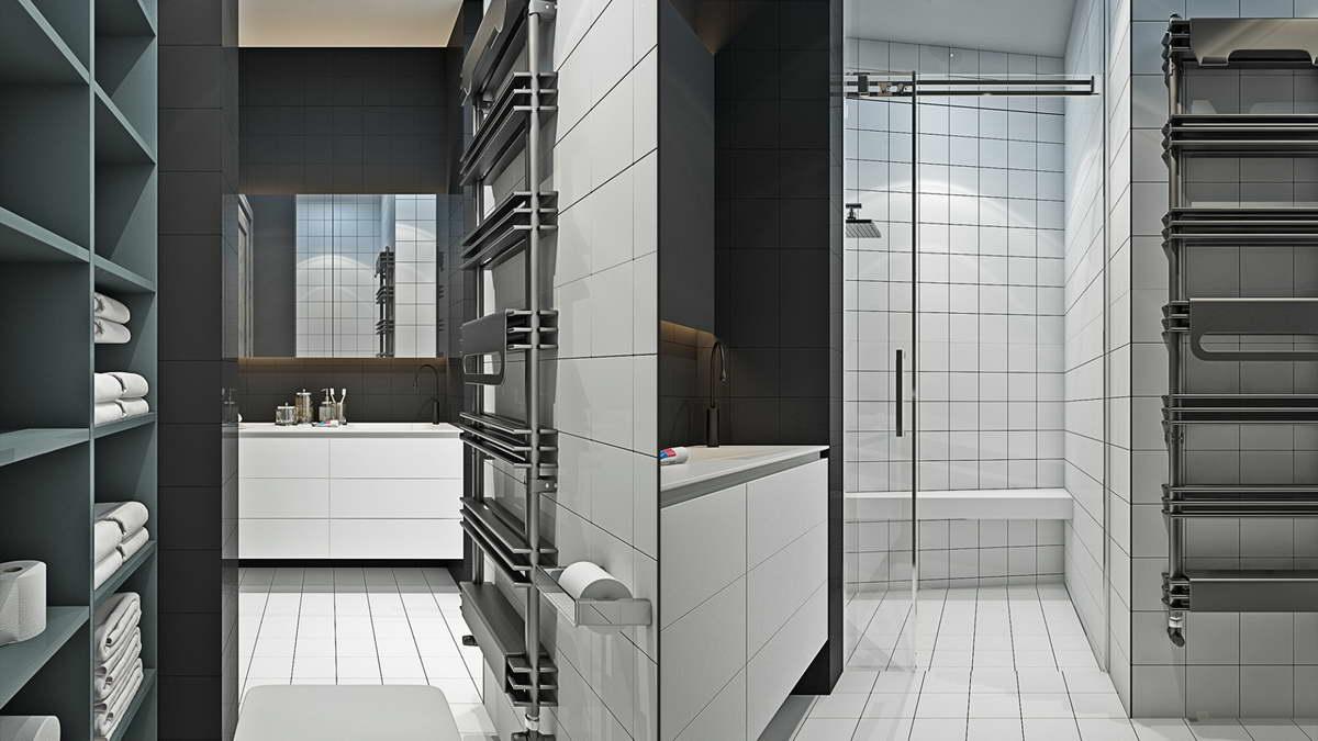 kis loft lakás fürdőszba