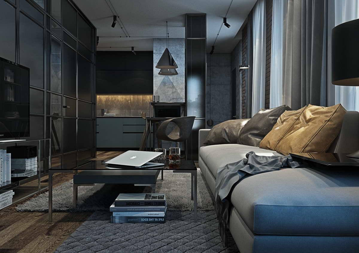 kis loft lakás nappali konyha étkező dolgozó