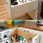 kis konyha tároló ötlet, tipp - fiók