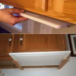 kis konyha tároló ötlet, tipp - tálca tartó