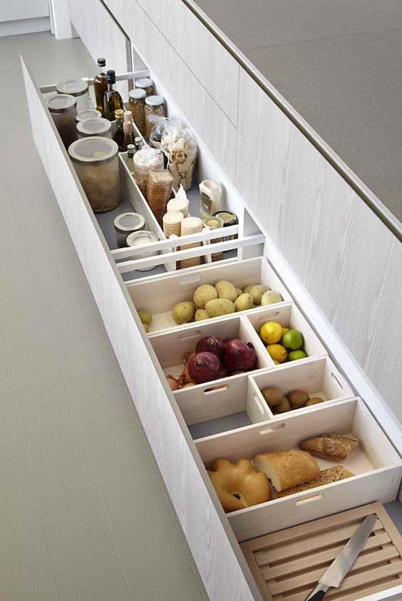 kis konyha tároló ötlet, tipp - alsó fiók