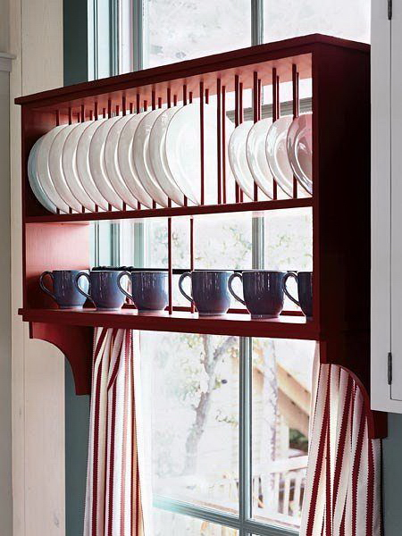kis konyha tároló ötlet, tipp - ablak polc