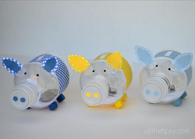 kreatív gyerek ötletek - palack, üveg kismalac