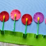 kreatív gyerek ötlet - virág fülpiszkáló csendélet