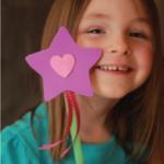 kreatív gyerek ötletek -hercegnő, varázspálca pálca