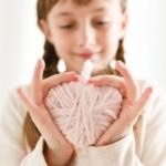 kreatív ötlet gyerekeknek - szív füzér