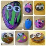 kreatív gyerek ötletek - apróságok vidámságok kavics dekoráció