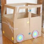 kreatív gyerek ötletek - karton papír autó