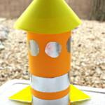 kreatív gyerek ötletek - paprrakéta