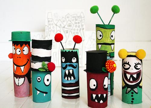 kreatív gyerek ötletek - rémisztő szörnyecskék