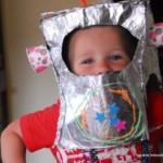 kreatív gyerek ötletek - robot maszk