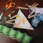 kreatív gyerek ötletek - tojásos doboz vitorlás hajó