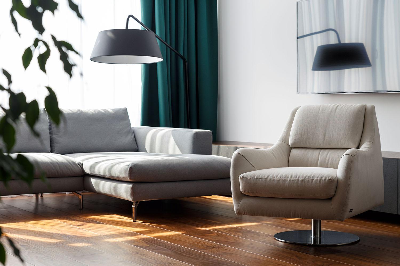 lakás emeletes ház tetején - nappali bútor