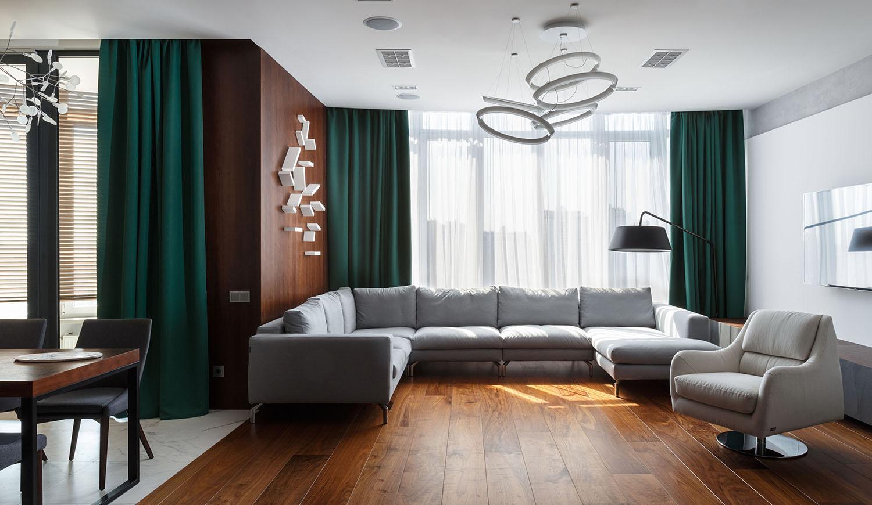 lakás emeletes ház tetején - nappali