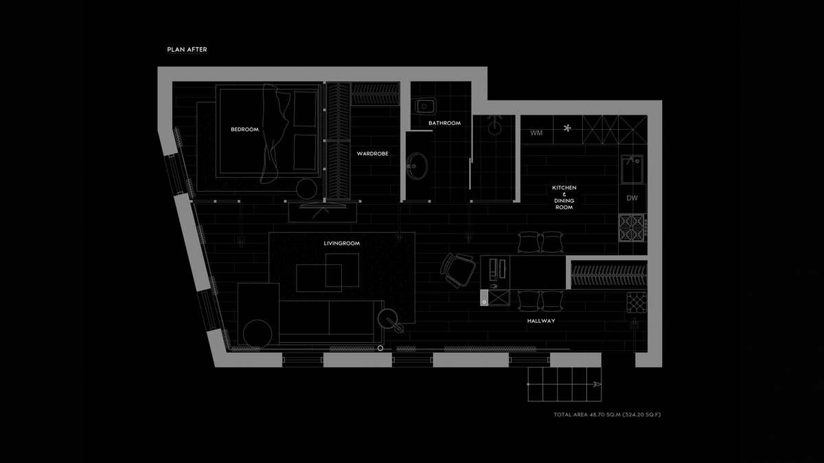 kis loft lakás alaprajz