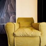 luxus lakás sárga réz - design fotel