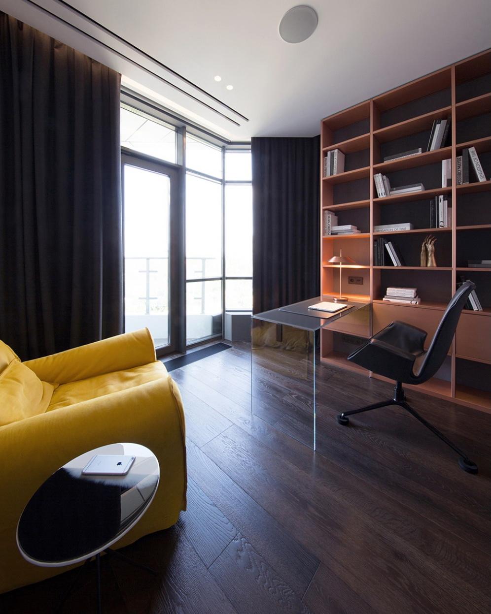luxus lakás sárga réz - dolgozó