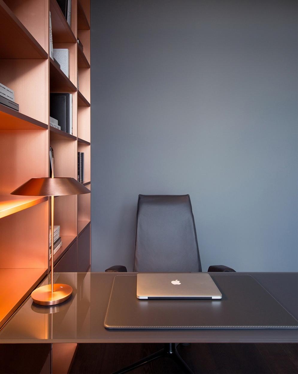 luxus lakás sárga réz - dolgozószoba