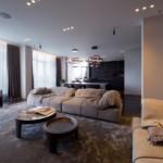luxus lakás sárga réz - nappali