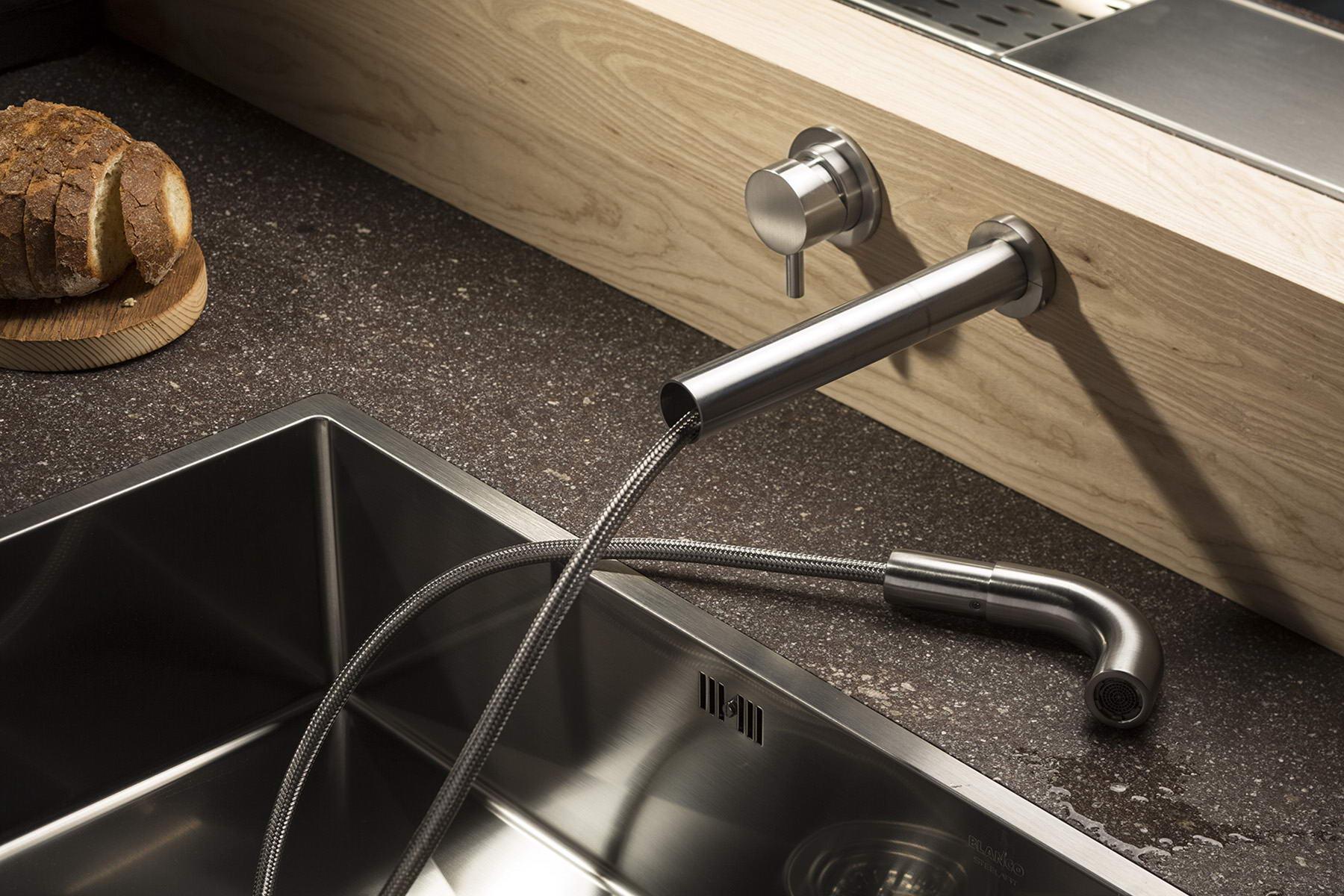 minimál csaptelep - konyha kihúzható gégecső