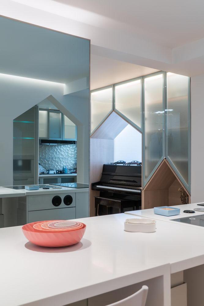 nyugtató színek - lakás étkező