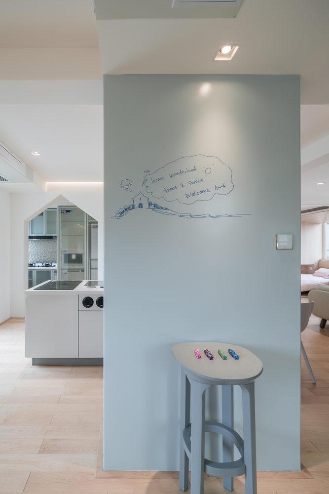nyugtató színek - lakás írható fal