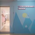 nyugtató színek - lakás bejárat